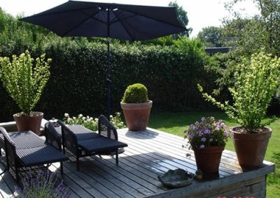Træ terrasse