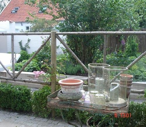 Træ hegn konstruktion