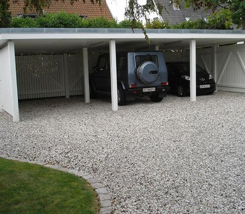Garage konstruktion af træ